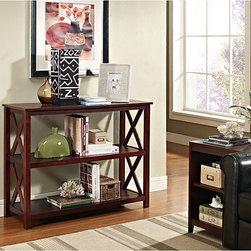 Espresso Occasional Console Sofa Table Bookshelf -