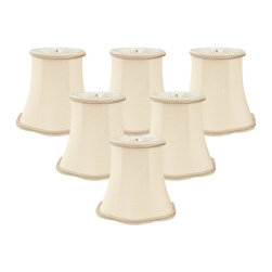 """Royal Designs, Inc"" - 5"" Decorative Trim Scallop Bell Chandelier Lampshade - ""This 5"" Decorative Trim Scallop Bell Chandelier Lampshade is a part of Royal Designs, Inc. Timeless Chandelier Shade Collection and is perfect for anyone who is looking for a simple yet stunning lampshade. Royal Designs has been in the lampshade business since 1993 with their multiple shade lines that exemplify handcrafted quality and value."