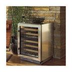 "Sub-Zero 24"" Dual Zone Wine Storage, Stainless Steel   424FSGTH - FULL VIEW UV PROTECTED GLASS DOOR"