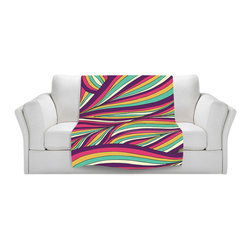 DiaNoche Designs - Throw Blanket Fleece - Tropical Leaves - Original Artwork printed to an ultra soft fleece Blanket for a unique look and feel of your living room couch or bedroom space.  DiaNoche Designs uses images from artists all over the world to create Illuminated art, Canvas Art, Sheets, Pillows, Duvets, Blankets and many other items that you can print to.  Every purchase supports an artist!