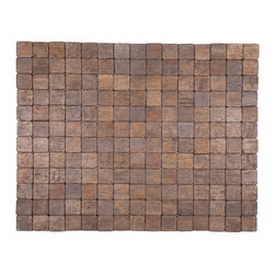 Entryways - Mather Exotic Wood Mat - Black 18x30 - Crafted of exotic wood, this handsome mat will add an elegant touch to any home. It is from Entryways Exotic Woods collection and meets the industry's highest standards. This design combines natural beauty and durability with surprising affordability.