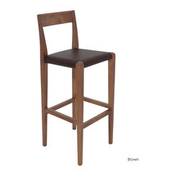 Ameri Bar Stool, Brown, Set of 2