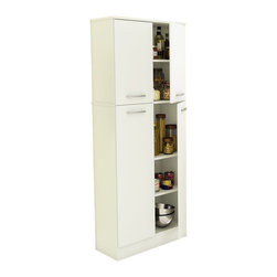 South Shore - South Shore Fiesta Storage Pantry in Pure White - South Shore - Pantry - 7150971 - Are you short of storage space in your kitchen? This elegant and practical food storage pantry is the perfect fit for your needs. The storage spaces make it ideal for putting away food as well as kitchen accessories. And you have 4 doors for greater funct