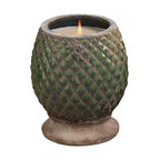 Zodax - Zodax Monceau Terracotta Scented Candle Jar - Zodax - Candle Holders / Lanterns - IG2058 - Monceau Terracotta Scented Candle Jar