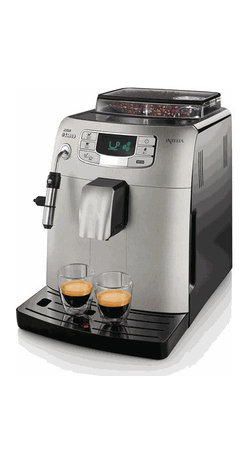 Saeco - Saeco Intelia Metal Super Automatic Espresso Machine - The Saeco Intelia Super Automatic Espresso Machine simplifies the home brewing experience, putting user-friendly grinding, brewing, and frothing capabilities at your fingertips.