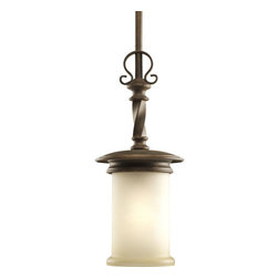 Thomasville Lighting - Thomasville Lighting P5076-102 Santiago 1 Light Mini Pendant - Thomasville Lighting P5076-102 Single Light Santiago Mini PendantAdd a hand forged look to any room with this rustic single light mini pendant. With Jasmine Mist Glass enhanced by subtle forged iron twists in the Roasted Java hardware, this fixture will take any room back to a simpler era of craftsmen.With a Forged Black, Roasted Java or Antique Pewter finish, the Santiago collection features Jasmine mist glass.Thomasville Lighting P5076-102 Features: