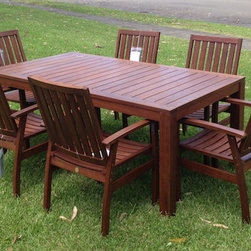 Outdoor furniture settings - Premium Patio has a great range of Outdoor timber furniture that represents what we think is the best quality and value in Sydney if not Australia.