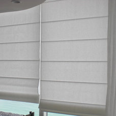 Contemporary Roman Shades by CCB DESIGN INC