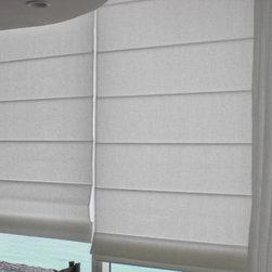 WINDOW TREATMENTS MIAMI & NEW YORK - LINEN MANUAL ROMAN SHADES
