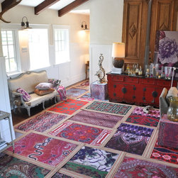 Layering rugs by designer Tracy Porter for Poetic Wanderlust - Archivally printed + handmade in our California art studio. Original designs created by Tracy Porter for Poetic wanderlust. Inspired artisan creations to feed your soul.
