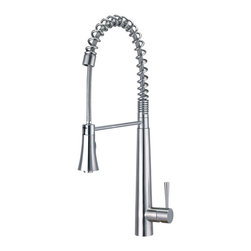 ALFI brand - ALFI brand AB2039S Solid Stainless Steel Commercial Spring Kitchen Faucet with P - LEON kitchen faucets by ALFI brand are made of solid stainless steel, unlike traditional faucets which are made out of brass and treated to created different finishes. These faucets are built tough and made to last for decades, both durability and looks.