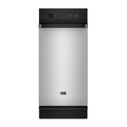 Maytag - MTUC7000AWS Full Console Trash Compactor with 1.4 Cu. Ft. Capacity  5:1 Compacti - Get rid of trash easily with this compactor that features a toe-bar drawer opener and a side-release bin for simple unloading and an odor-control fan with a charcoal filter to remove strong scents from your kitchen