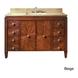 None - Avanity Brentwood 49-inch Single Vanity in New Walnut with Sink and Top - Upgrade your bathroom with this 49-inch vanity combo. This elegant vanity is hand-crafted out of solid poplar wood and ash vaneers and includes plenty of storage for your belongings.