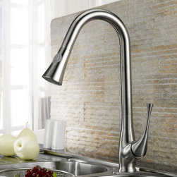 Peko Stainless Steel Pull-Down Spray Kitchen Faucet - You'll love washing dishes and filling water pitchers when you have this stainless steel Peko pulldown sprayer kitchen faucet at your disposal. Constructed from 304 lead free stainless steel, this faucet blends quality and durability with elegance and style.