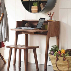 Foldaway Desk - The craftsmanship of this Indian rosewood desk makes it beautiful enough for any room.