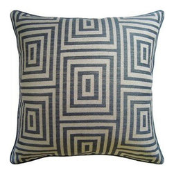 Ryan Studio - Woven Geo Mineral Pillow - Indulge in these wonderfully crafted pillows. Their woven design and down feather fill adds great luxury to your home.