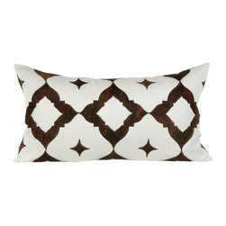 Eloise Large Long Pillow - We would use this pillow to brighten up the back of a dark chair and make it super comfortable.