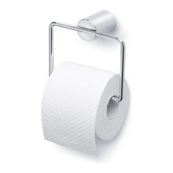 Blomus - Duo Polished Square Toilet Paper Holder - Mounting kit included. Holds US sized rolls. Made of stainless steel. Designed by Stotz-Design. 1-Year manufacturer's defect warranty. 5.93 in. L x 2.93 in. W x 5.33 in. H