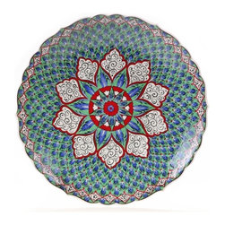 "16"" Turkish ""Masterwork"" Scalloped Decorative Plate - Turkish ""Masterwork"" Scalloped 16"" Decorative Plate"