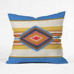 Siesta Throw Pillow Cover - Liven up your chair or sofa with this bold Siesta Throw Pillow Cover. With a southwestern-inspired pattern in bright, brilliant hues, it will give your room a laid-back glow.