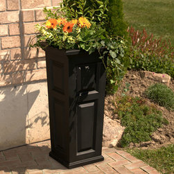 Nantucket Tall Planter - Style and function work perfectly in this tall Nantucket planter. Idea for patios, terraces, porches and courtyards. Self-watering tray insert creates an inner irrigation system to encourage root growth for healthy, thriving plants.