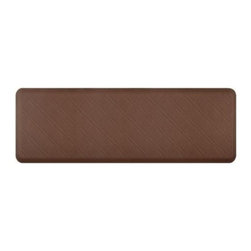 WellnessMats - Wellness Mats Floor Mat Motif Moire 6'x2', Brown - As in all of our mats, the Motif Collection surface is incredibly supportive, resilient and feels like heaven on your feet. It is easy-to-clean, will never curl or delaminate and, of course, it provides unprecedented comfort and relief while you stand.