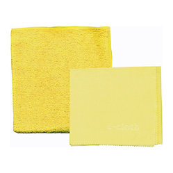 e-cloth - e-cloth Bathroom Pack - Cleaning Cloth and Glass & Polishing Cloth - Make a clean getaway with the incredible e-cloth. Both types included in this pack are made of unique fabric that features 1.6 million fibers in every square inch. They effectively eliminate up to 99 percent of bacteria, dirt, soap scum and mildew without the use of any potentially harmful chemicals. Use them to clean everything from mirrors to showers to countertops. Then throw them in the wash to use again and again.