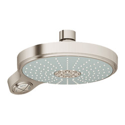 "Grohe - Grohe 27765-000 Power & Soul Cosmopolitan 4-Function Shower Head - This Power & Soul Cosmopolitan Shower Head (27765) Features A 7-1/2"" Diameter, A Durable Plastic Construction, And 4 Spray Patterns (Rain, Grohe Rain O2, Bokoma Spray, And Jet). Its One-Click Showering Spray Selection Makes It Easy To Customize Your Shower, And With Grohe'S Dreamspray, Watercare, And Speedclean Technologies, You'Ll Have A Revolutionary Showering Experience Every Day. This Model Has A 1.5 Gpm Maximum Flow Rate, And Comes In A Bright, Starlight Chrome Finish."