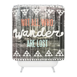 DENY Designs - Wesley Bird Wander Shower Curtain - Who says bathrooms can't be fun? To get the most bang for your buck, start with an artistic, inventive shower curtain. We've got endless options that will really make your bathroom pop. Heck, your guests may start spending a little extra time in there because of it!