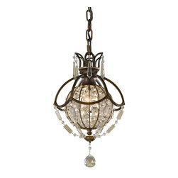 Murray Feiss - Murray Feiss Bellini Traditional Mini Pendant Light X-BRB/ZBO8711P - This traditional mini pendant light is reminiscent of the Neo Classical empire with its antique design and rectangular crystals. It is finished with oxidized British bronze and is a unique addition to a traditional design.