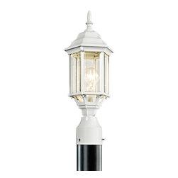 Kichler Lighting - Kichler Lighting 49256WH Chesapeake White Outdoor Post Light - Kichler Lighting 49256WH Chesapeake White Outdoor Post Light