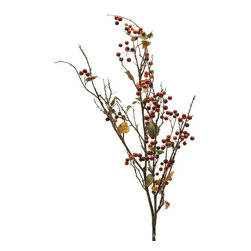 Home Decorators Collection - Harvest Berry Spray - Transition your home's decor into fall and winter with our Harvest Berry Spray. Nothing heralds the cooling weather like bright red berries; these artificial versions look just like the real thing but will last year to year. Lifelike plastic branch. Faux berries and leaves.