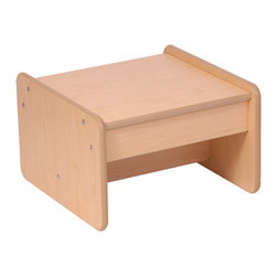"""Steffywood - Steffywood Home Living Room Wooden Foot Stool Small End Table - Unit can be used as an end table or foot stool. Maple wood grained melamine laminate panels with rounded and finished edges.Maple faced scratch resistant melamine panels are 5/8""""thick. All edges have full finished rounded smooth corners. All tools and hardware are supplied for easy assembly. Made in the USA. GreenGuard certified."""
