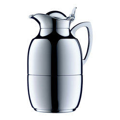 Alfi - Alfi Chrome Plated Brass Carafe, 12 Cup - Bring a classic home, to enrich your decor and keep your coffee piping hot. Debuting way back in 1918, this chrome-plated brass carafe maintains its signature vacuum glass liner and hinge. Pure pouring perfection!