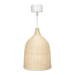 "LERAN Pendant Lamp - 11"" - This rattan pendant light holds a special place in my heart: It's part of my son's nursery. The glow it emits once it's turned on is simply magical. The diffused light that is produced by this light is also perfect for living or dining rooms."