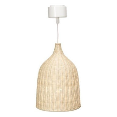 """LERAN Pendant Lamp - 11"""" - This rattan pendant light holds a special place in my heart: It's part of my son's nursery. The glow it emits once it's turned on is simply magical. The diffused light that is produced by this light is also perfect for living or dining rooms."""