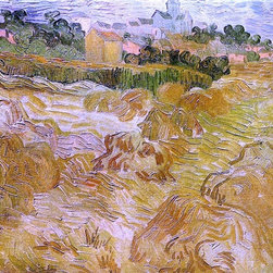 "Vincent Van Gogh Wheat Fields with Auvers in the Background - 16"" x 20"" Premium - 16"" x 20"" Vincent Van Gogh Wheat Fields with Auvers in the Background premium archival print reproduced to meet museum quality standards. Our museum quality archival prints are produced using high-precision print technology for a more accurate reproduction printed on high quality, heavyweight matte presentation paper with fade-resistant, archival inks. Our progressive business model allows us to offer works of art to you at the best wholesale pricing, significantly less than art gallery prices, affordable to all. This line of artwork is produced with extra white border space (if you choose to have it framed, for your framer to work with to frame properly or utilize a larger mat and/or frame).  We present a comprehensive collection of exceptional art reproductions byVincent Van Gogh."