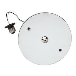 """Tech Lighting - Recessed Can Adapter - Features: -Recessed can adapter. -Available in chrome, satin nickel, white and antique bronze finishes. -Used to retrofit existing recessed down lights for use with FreeJack heads and pendants of up to 75 watts. -Includes 12 volt, 75 watt electronic transformer. -Overall dimensions: 0.5"""" H x 7.5"""" Dia. NOTE: Track Lighting is not universal. Tech Lighting products can only be used with Tech Lighting products or warranty is void."""