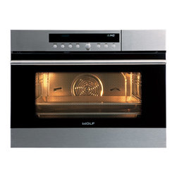 "Wolf 24"" E Series Transitional Convection Steam Oven Stainless Steel 