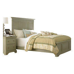 American Drew - American Drew Ashby Park 3-Piece Panel Bedroom Set - The Ashby Park collection is a casual, lifestyle collection with multiple options that will help you create the perfect bedroom. The design of the collection is simple, yet full of look. An eclectic mix of colors and materials gives this group the ability to fit into many settings; create a metro, casual, transitional, traditional or even coastal appearance by changing or mixing up the colors and textures. There are five finish options. The three wood tone finishes are Natural, Nutmeg and Peppercorn and the stained colors are Sage and Sea Salt. The semi-transparent finish is accomplished by applying the various colored stains onto the strong grain characteristics of Ash. This allows the wood undertones to naturally add depth and highlights to each piece. The wood tone finishes use a Dark Copper finished knob. The stained colors use a Nickel finished knob. The hardware adds to the simple styling of the pieces. With multiple bed and case piece options, finish and hardware options, Ashby Park is sure to fit the style and needs of many homes.