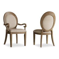 Hooker Furniture - Hooker Furniture Set of 2 Corsica Oval Back Arm Chair 5180-75402 - Like the Mediterranean island for which its named, Corsica is a melting pot of timeless design influences with a sun washed ambience and a casual attitude.