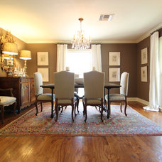 Traditional Dining Room Modern Mix