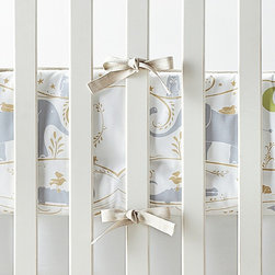 Serena & Lily - Dylan Crib Bumper - This is a lovely elephant print crib bumper for the nursery.