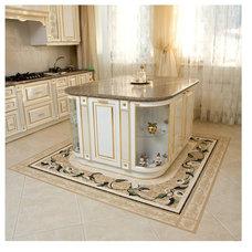Mediterranean Kitchen by NewZeugma Custom Luxury Mosaics and Iznik Tiles