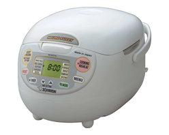 Zojirushi - Zojirushi NS-ZCC10 Neuro Fuzzy Rice Cooker and Warmer, 5.5 cup - -Advanced Neuro Fuzzy logic technology