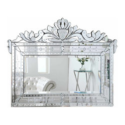 "PWG Lighting / Lighting By Pecaso - Xanthe Crystal Vanity Fixture MR-1704C - Mirror 59""x1""x45""H CL"