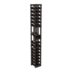 Wine Racks America - 2 Column Display Row Wine Cellar Kit in Pine, Black - Make your best vintage the focal point of your wine cellar. High-reveal display rows create a more intimate setting for avid collectors wine cellars. Our wine cellar kits are constructed to industry-leading standards. You'll be satisfied. We guarantee it.