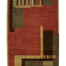 Rugs Nourison Hand Tufted Dimensions Rust Rug ( 7'6 x 9'6 )
