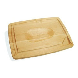 J K Adams Pour Spout Cutting Board - Large - The J K Adams Pour Spout Cutting Board – Large features juice grooves and a pour spout for simple and clean reduction or gravy making. This handcrafted maple board also has a reversible two-sided design, with a flat surface for beef or fish and an indented cut out on the other side for easier poultry carving.About J.K. Adams J.K. Adams has been designing, manufacturing, and distributing wood products from Dorset, Vermont, since 1944. Their philosophy can be summed up by the three short phrases painted on large signs hanging from the factory ceiling: Quality First. Production Next. Safety Always. Judging from the company's longevity and success, this business model works. Each J.K. Adams product begins with the finest Northeastern kiln-dried lumber. By combining functionality, aesthetics, and quality manufacturing techniques, the company creates exceptional wooden products that last a lifetime.