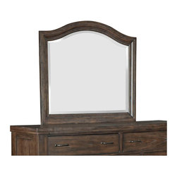 Broyhill - Broyhill Attic Retreat Arched Dresser Mirror in Weathered-Mink - Broyhill - Mirrors - 4990236 - About This Product: